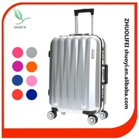 2015 new aluminum trolley girls travel luggage bag wheeled duffle bag