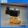 2/2 vías válvula de solenoide de acción directa, IP65 DIN Bobina para aire, agua, gas, 2W160-15-DC12V