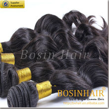 Factory price 7A fast delivery wholesale indian hair loose hair weave 1B#