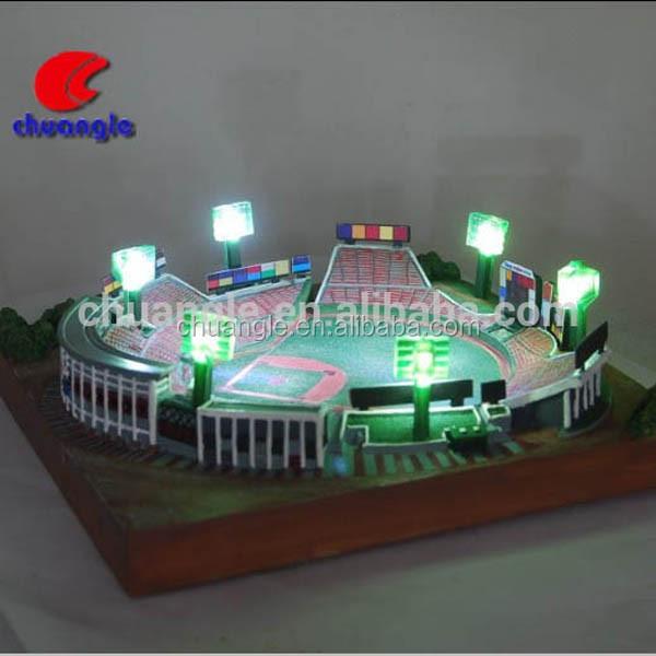Custom Led Lights Football Stadium Replica Model Soccer