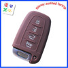 4 Buttons Silicone Car Key Remote Case with Brown Color for Hyundai