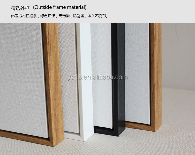 black framed & linen blank mini stretched canvas for paintings