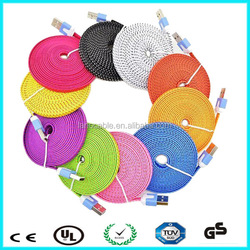Colorful mobile phone charger cable lines