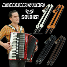 Padded leather accordion strap /leather strap