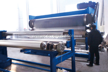 textile Three rollers bowls fabric embossing machine