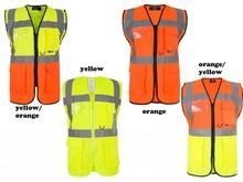 Wholesale High Quality Custom logo Reflective safety vest with EN20471 & CE standard, reflective cloting , reflective vest