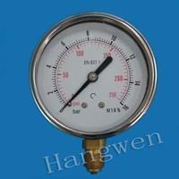 stainless steel glycerine oil filled pressure gauge use no oxygen