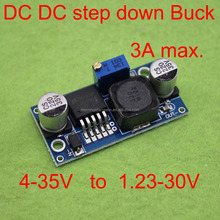 LM2596S; small DC-DC adjustable power supply; a step-down module; the positioning hole; indicating lamp