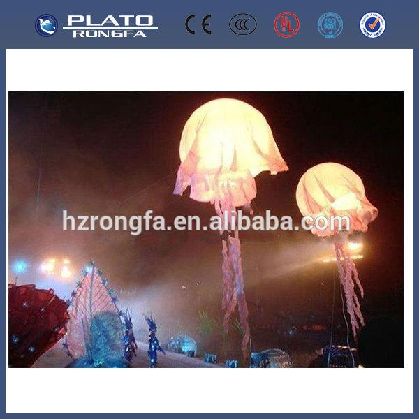 inflable medusas colgante, medusas luz led