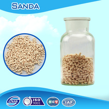 Activated alumina Drying of practically all inorganic gases such as Air, Ammonia, Carbon Dioxide, Chlorine etc.