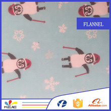 100% cotton printed flannel fabric for nursery bedding