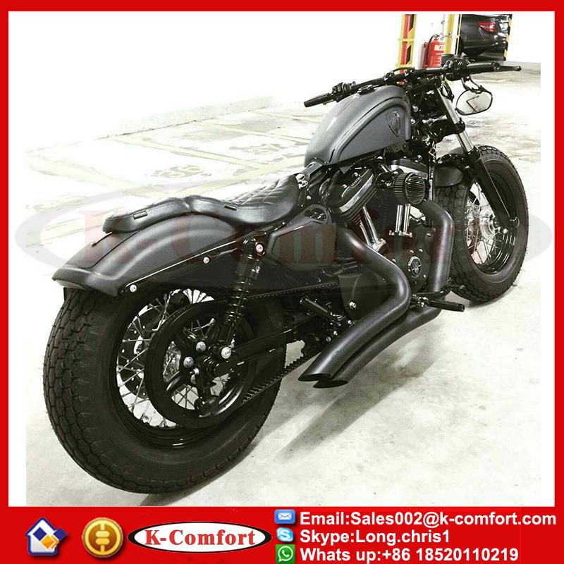 Motorcycle Black Rear Passenger Backrest Sissy Bar Cushion Pad For Harley Davidson Sportster XL 883 XL 1200 2004-2016