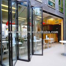 Wanjia factory wholesale aluminium sliding partitions folds