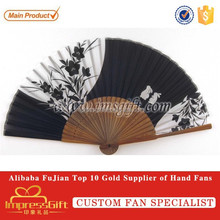 Custom fabric Hand Fan For Holiday Gift