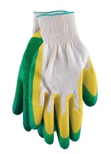 Gloves with double Latex flow coating