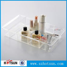 JY1503 Multi compartment clear plastic storage trays with dividers