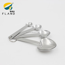 New design 4pcs heart shaped stainless steel wholesale measuring spoons