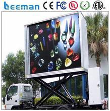 mobile display trucks solar power water pump system for irrigation Leeman P10 mobile truck led billboard