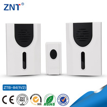 ZTP-84, one button and two bells,battery1*12v,23A, 3 or 32 Tunes Songs, Waterproof wireless doorbell,funny digital doorbell