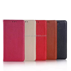 New Genuine Leather Wallet Flip Case With Credit Card Holder For Huawei P8