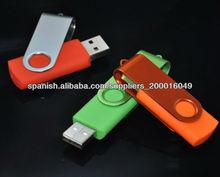 la costumbre del eslabón giratorio una unidad flash USB a prueba de agua de alta velocidad