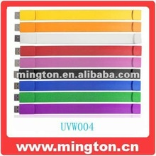 Colorful promotional medical bracelet usb flash drive 4gb