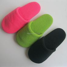 high quality pure color polar fleece children indoor slipper