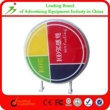 Silk Printed Vacuum Forming Advertising Plastic Round Outdoor Light Box Sign