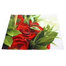 logo printable custom make fashional cleaning cloth silk