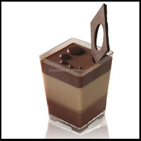 3oz mini cup and sauce cup Disposable Square Mini Cube Clear Tasting Plastic Dessert Cups wholesale maker