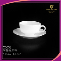 suitable for hotel 5.75 inch durable noble airline crockery cup and saucer
