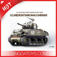 New 1/16 Radio Control Heng Long M4A3 Sherman Military Rc Tank With Smoking HL3898-1