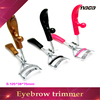 Colorful plastic handleplastic eyelash curler, eyelash curler with silver metal part