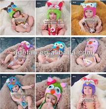 wholesale cheap 2013 baby girls owl crochet hats