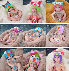 wholesale cheap 2013 baby girls owl crochet hats