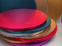 Round colourful food grade cake drum