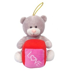 ICTI and Sedex audit new design EN71 customed cheap stuffed 12 cm teddy bear with keychain