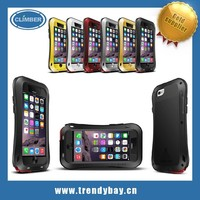 love mei aluminum waterproof case for iphone 6 phone case