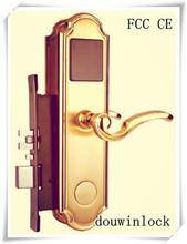Wooden door and hotel door lock system