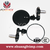 SF-001 FLYQUICK High Quality rizoma folding handlebar end mirrors bar end mirrors with black sliver carbon color for sale