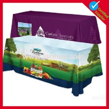 trade show polyester sublimation printed table cover