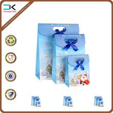 Cute printing christmas gift packing bag, plastic gift bag, plastic bag with cover