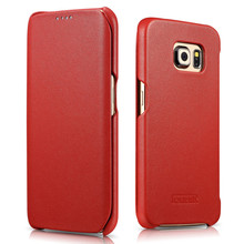 Genuine Leather Case For Samsung S6 Edge,Wallet Mobile Phone Cover For Galaxy S6 Edge,Flip Cell Phone Case For S6 Edge