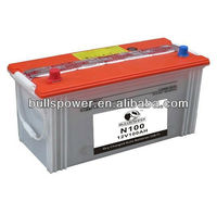 auto battery dry charged N100 12V100Ah stationary battery solar battery