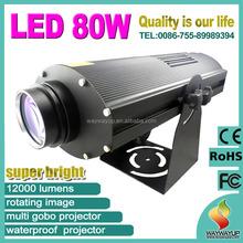 LED80W led logo projector light,ellipsoidal led gobo projector light,warm white led imaging light