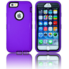 Hot Sale Rubberize Mobile Housing For Apple Iphone 6 Defend Case / Useful Plastic Phone Cover For Iphone 6 TPU Mobile Case
