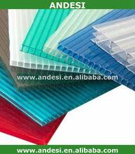 uv coating pc hollow transparent plastic roofing