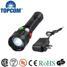 High Brightness Rechargeable Promotional Materials LED Traffic Light Torch
