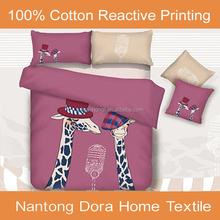 100%cotton cartoon kids bed sheet printed bedding set