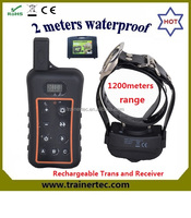 1200Meter waterproof & rechargeable Remote dog training collar in low price